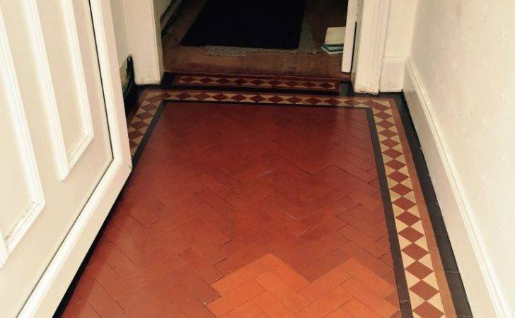 Removing Paint Victorian Tiled Hallway Floor