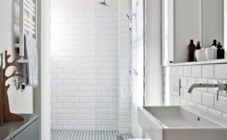 Retro Black White Bathroom Floor Tile Ideas
