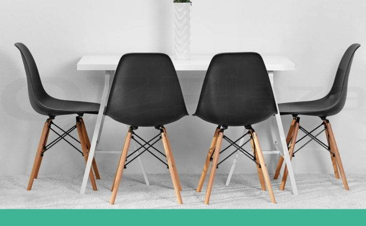 Retro Replica Eames Eiffel Dining Chairs Cafe Kitchen
