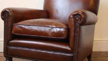 Reupholstered Leather Club Chair Antique