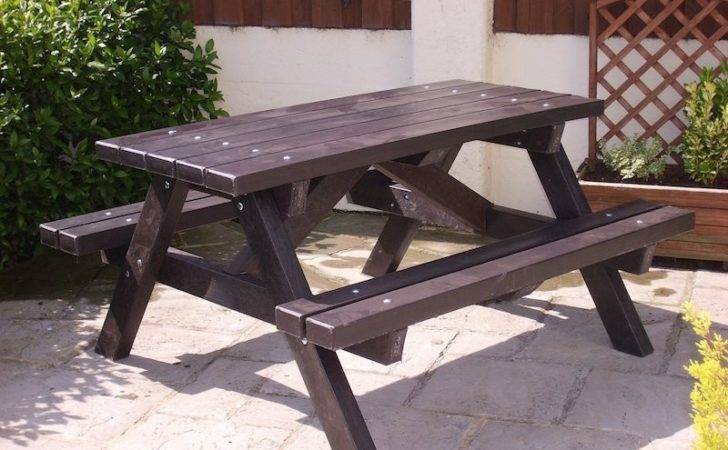 Ribble Picnic Table Recycled Plastic Trade