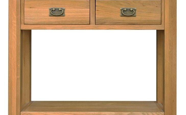 Ribble Solid Oak Furniture Small Hallway Console Hall
