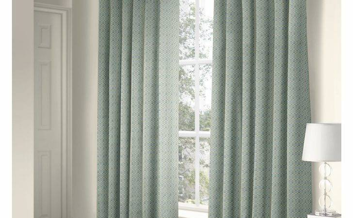 Ritz Duck Egg Lined Ready Made Eyelet Ring Top Curtains