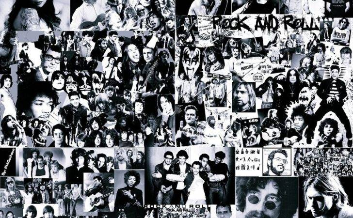 Rock Roll Collage