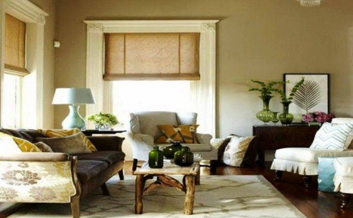 Romantic Style Living Room Neutral Interior Wall