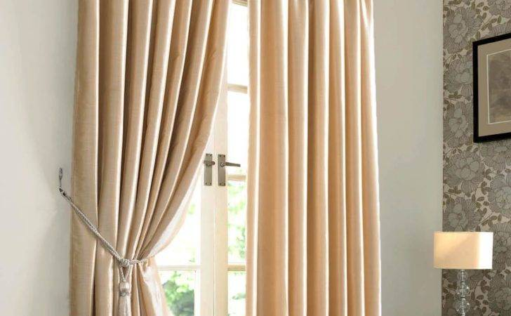 Rome Natural Cream Interlined Ready Made Curtain Curtains