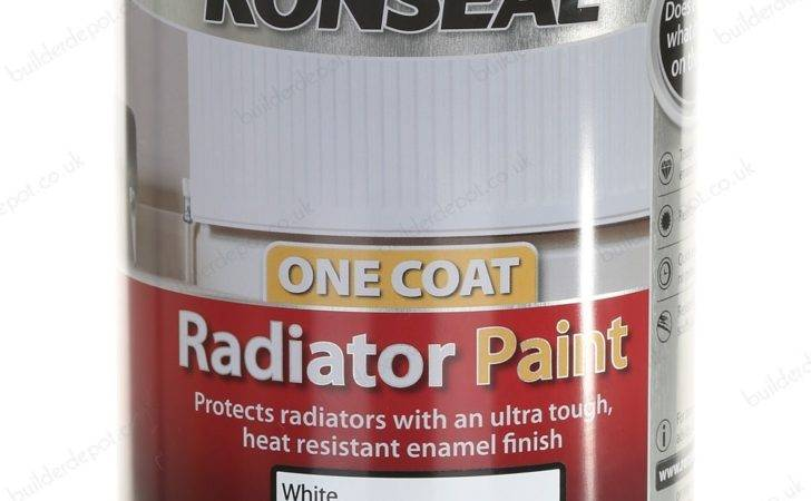 Ronseal One Coat Radiator Gloss Paint Brilliant White