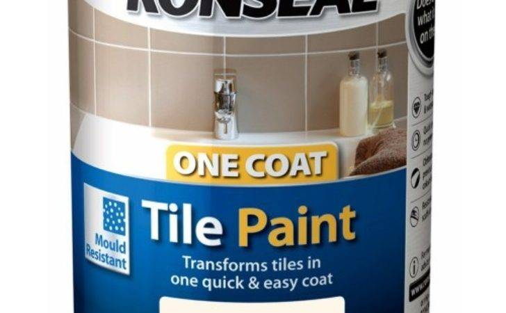 Ronseal One Coat Tile Paint Ivory Satin
