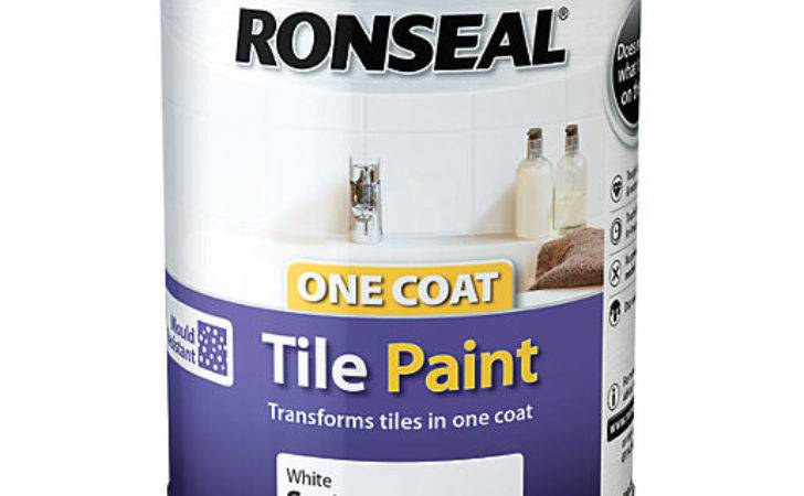 Ronseal One Coat Tile Paint Satin White Wickes