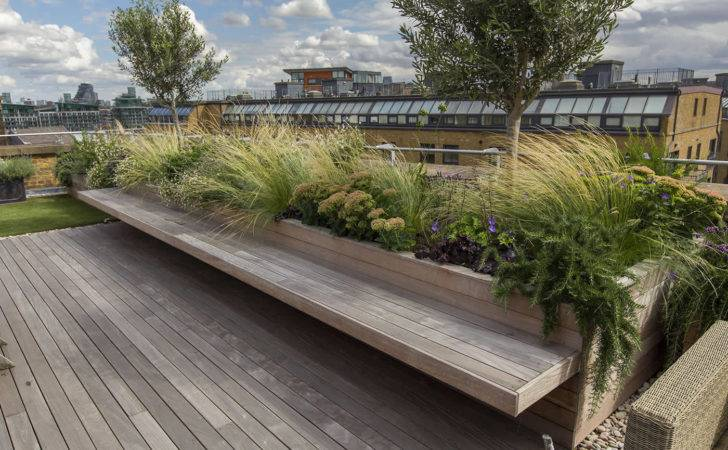 Roof Terrace Decking Artificial Level Lawn Led