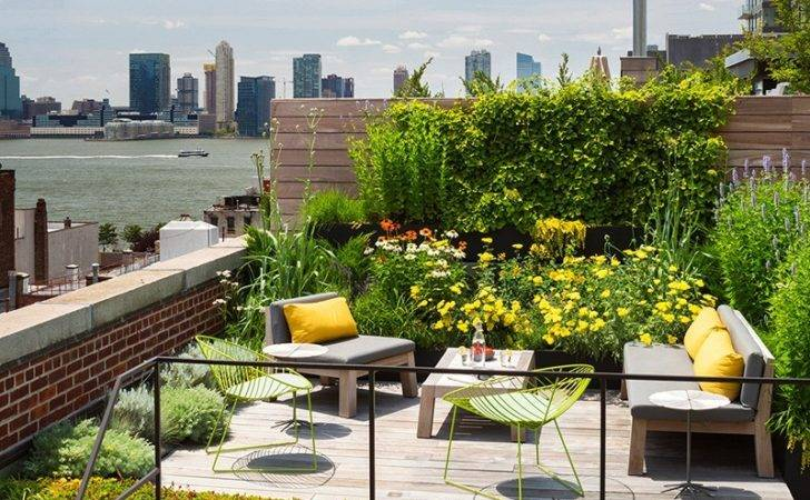 Rooftop Garden Design Interior Ideas