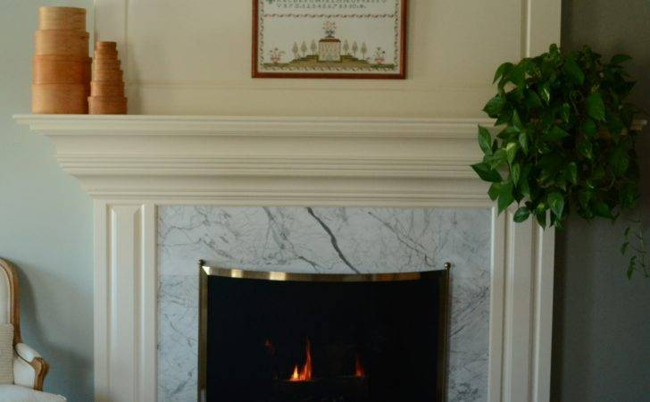 Room Interior White Marble Fireplace Surround