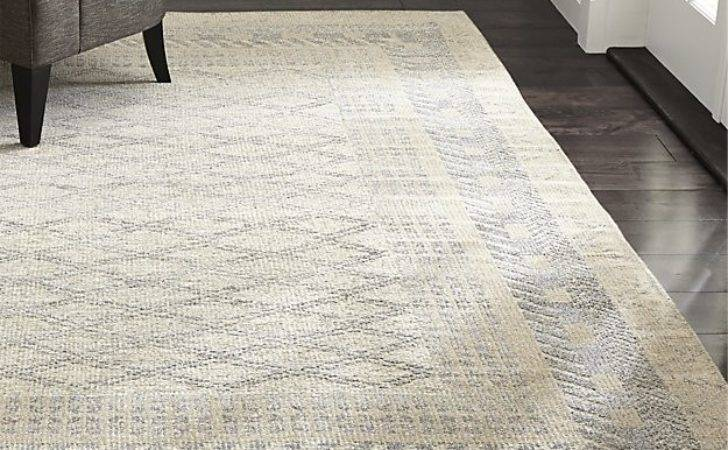 Rosalie Neutral Hand Knotted Oriental Rug Crate Barrel