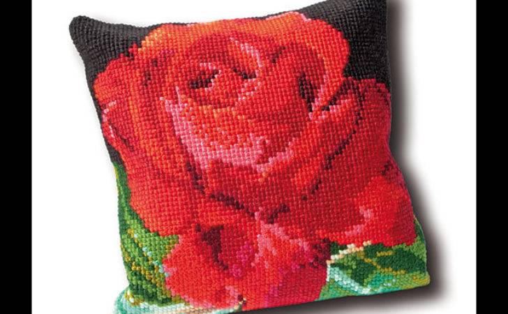 Rose Cushion Tapestry Cushions Theagouverneur