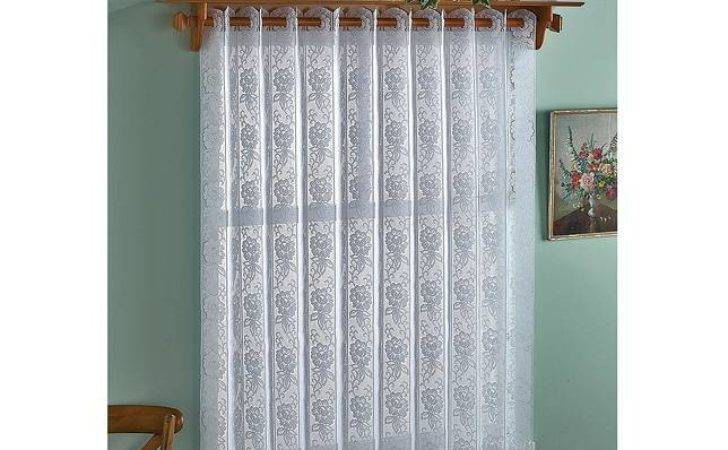 Rose Lace Vertical Pleated Blind Wide Curtain