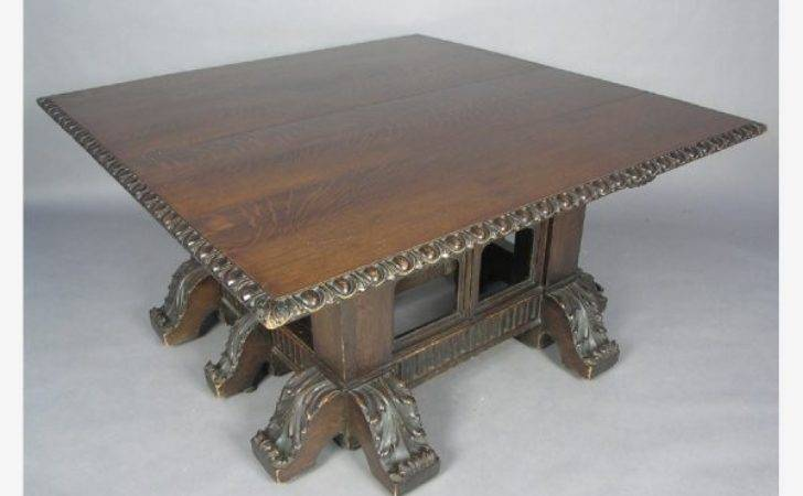 Rose Valley Attr Carved Gothic Dining Room Table