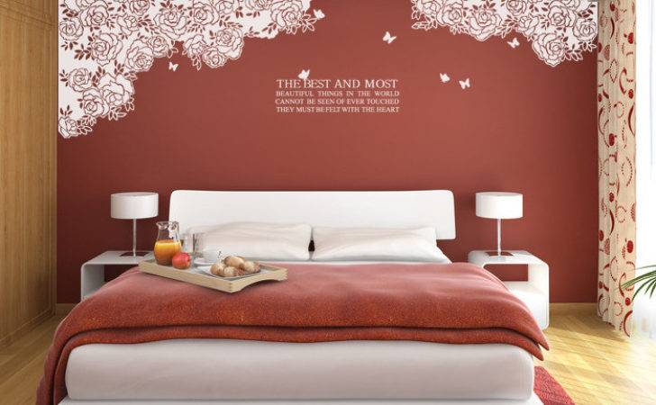 Rose Wall Stickers Butterfly Flower Decals Lace