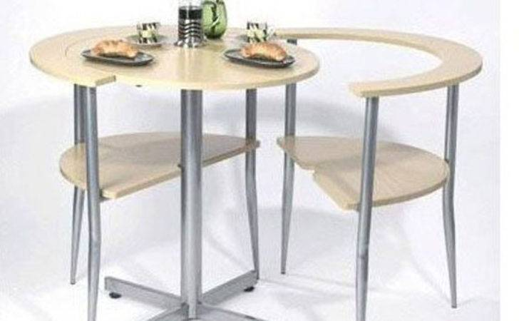 Round Breakfast Table Brown Set Simple Assembly
