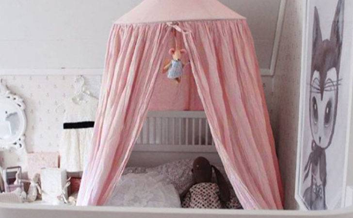 Round Curtain Dome Bed Canopy Netting Princess Girl Baby