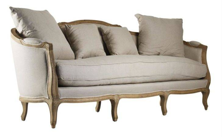 Rue Bac French Country Linen Feather Down Sofa Kathy
