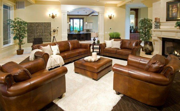Rustic Dim Brown Leather Sofas Fantastic Expense Warm