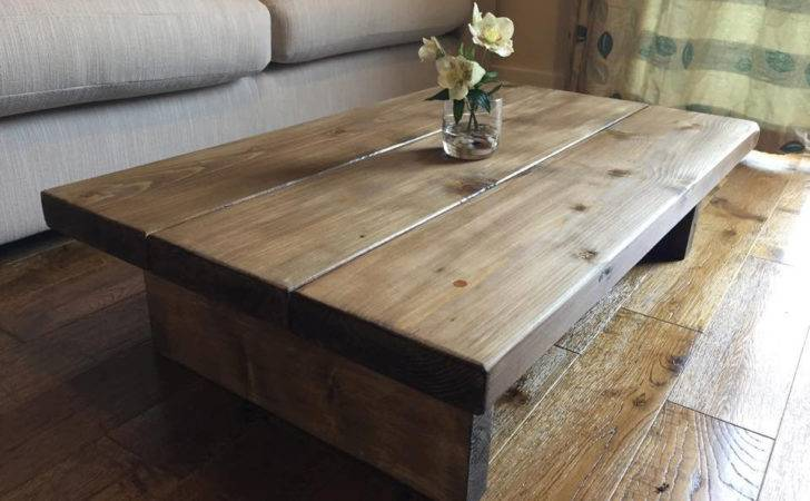 Rustic Handmade Oak Finished Pine Coffee Table