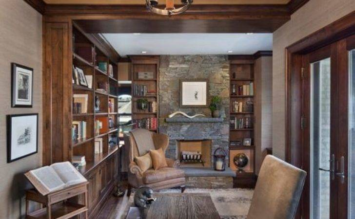 Rustic Home Office Design Ideas Remodels Photos