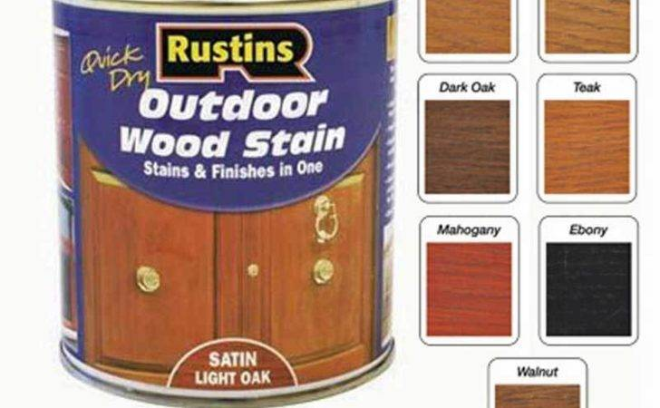 Rustins Exterior Quick Dry Outdoor Wood Stain Satin Finish
