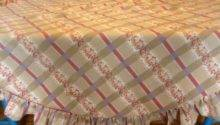 Sale Vintage Country Style Tablecloth Inch Round