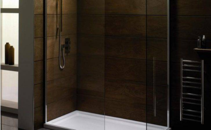 Saneux Walkin Shower Front Panel Contemporary