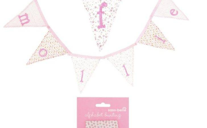 Sass Belle Girls Floral Personalised Bunting