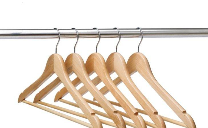 Save Ezihom Gugertree Solid Wooden Suit Hangers