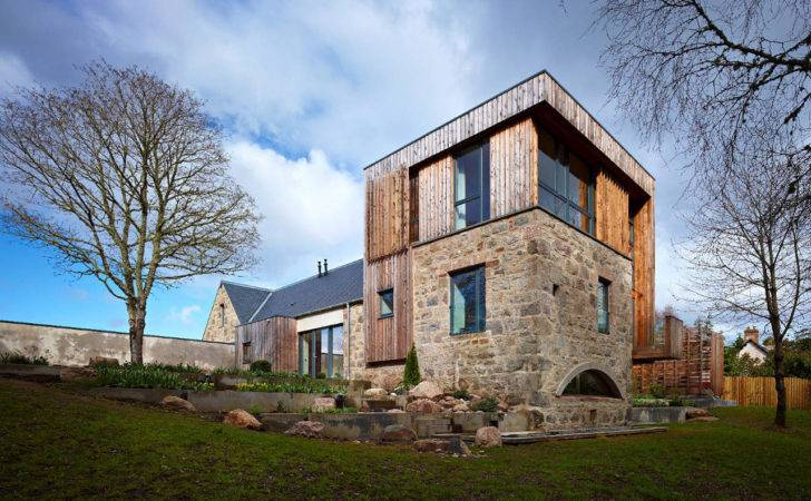 Scottish Country House Incorporates Ruins Former Mill