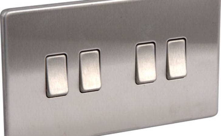 Screwless Flat Plate Brushed Stainless Steel Light