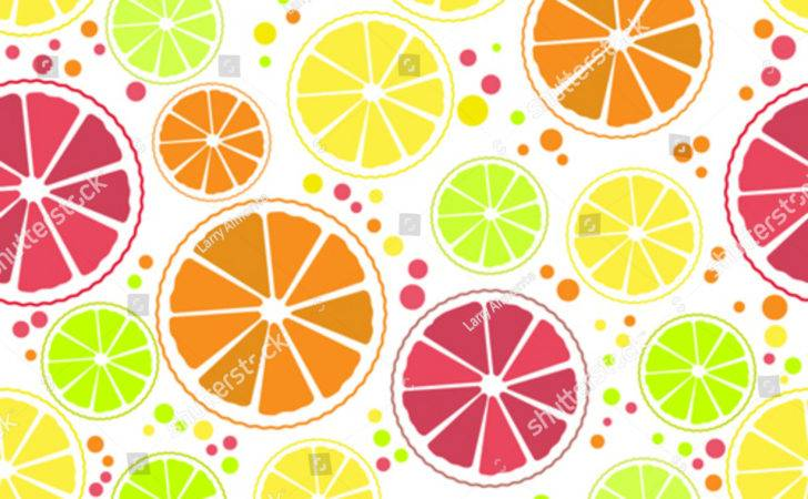 Seamless Pattern Citrus Design Lemon