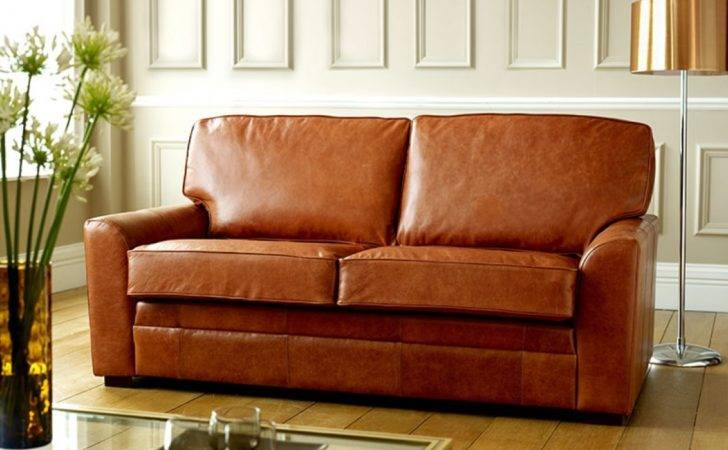 Seater Sofa Bed London Tan Leather Sofas