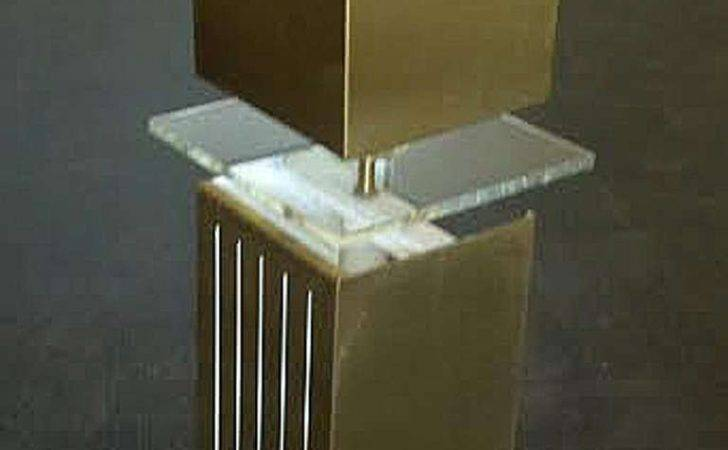 Set Four Monumental Architectural Brushed Bronze