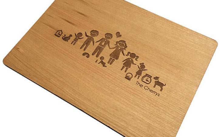 Set Modern Personalised Placemats Cherrywood