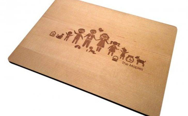 Set Modern Personalised Placemats Maple
