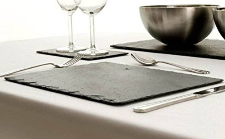 Set Rectangle Natural Slate Dinner Kitchen Cheeseboard