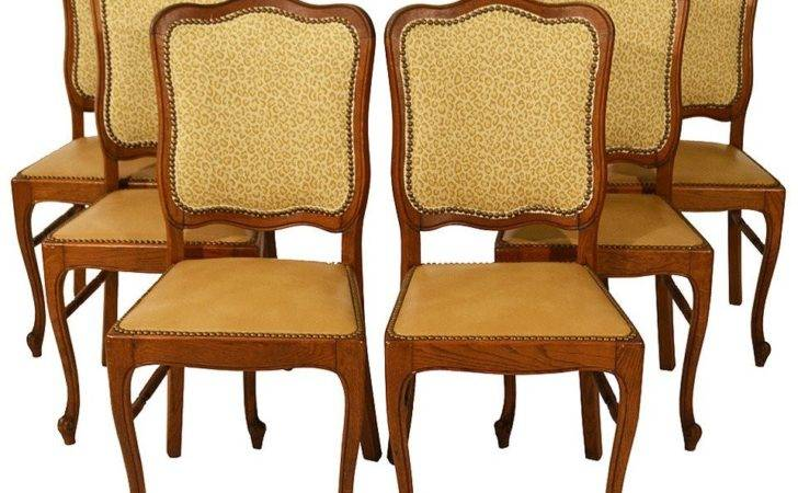 Set Six Country French Dining Chairs Stdibs