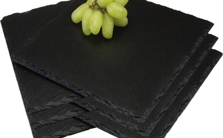 Set Square Placemats Natural Slate Cheese Dinner
