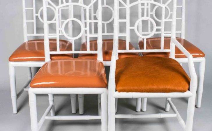 Set White Painted Dining Chairs