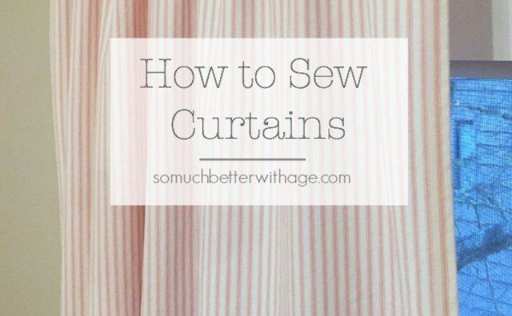 Sew Pink Ticking Curtains Much Better Age