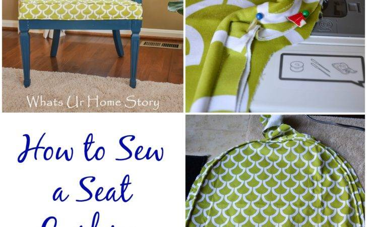 Sew Seat Cushion Piping Whats Home Story