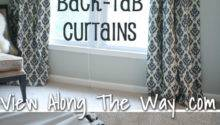 Sew Tab Back Curtains Guest Tutorial Little
