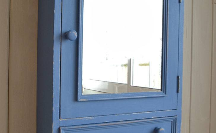 Shabby Chic Blue Bathroom Wall Cabinet Delivery
