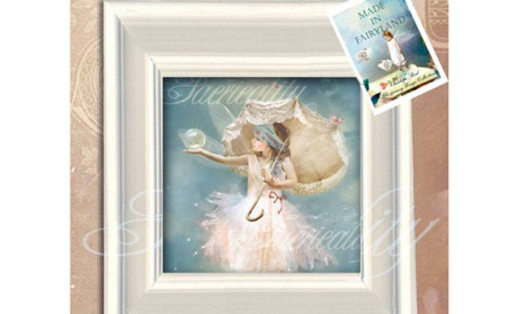 Shabby Chic Framed Fairy Canvas Oil Painted Effect Finish