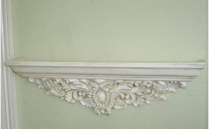 Shabby Chic Wall Shelf White
