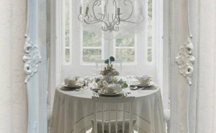 Shabby Chic White Mirror Antique Parlor Mirrorcottage